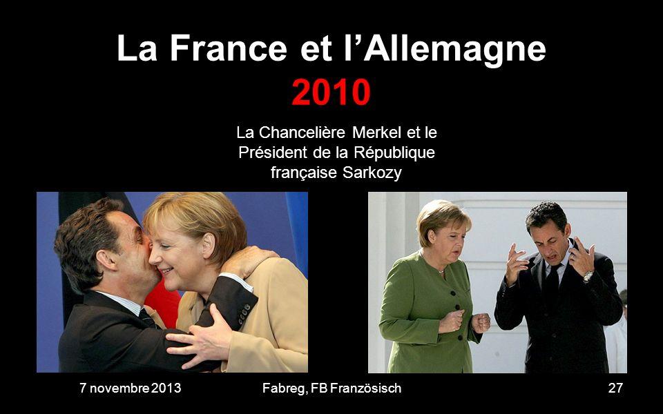 La France et l'Allemagne 2010