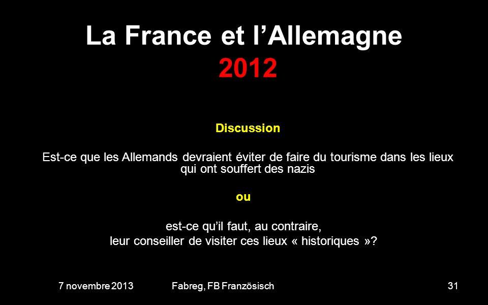La France et l'Allemagne 2012