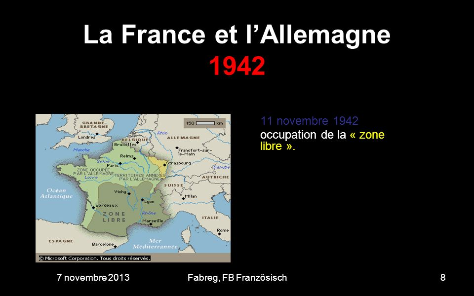 La France et l'Allemagne 1942