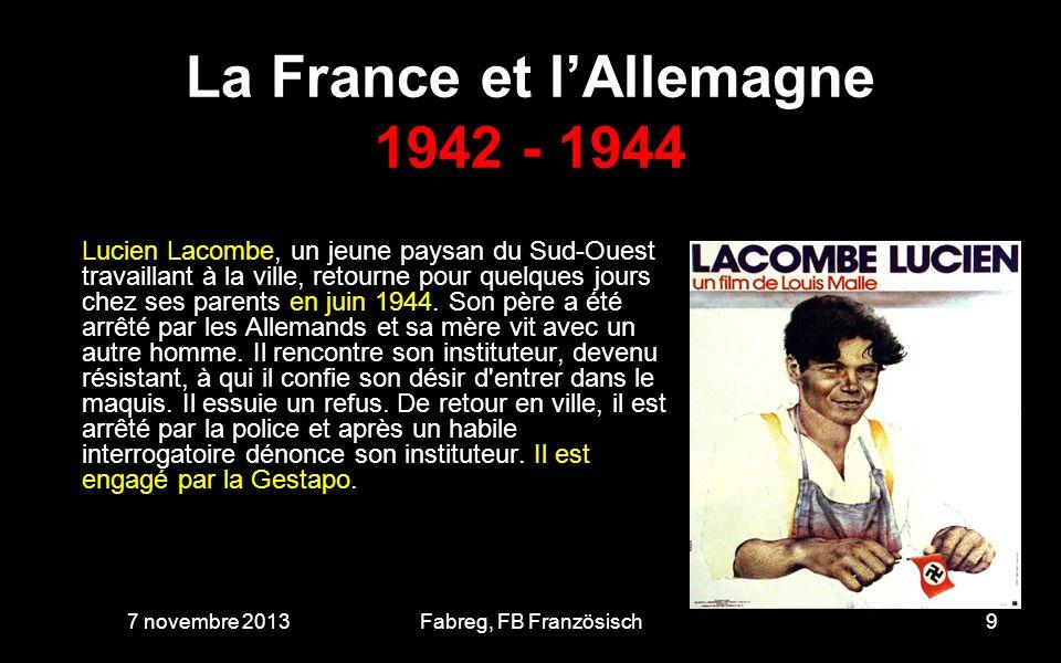 La France et l'Allemagne 1942 - 1944