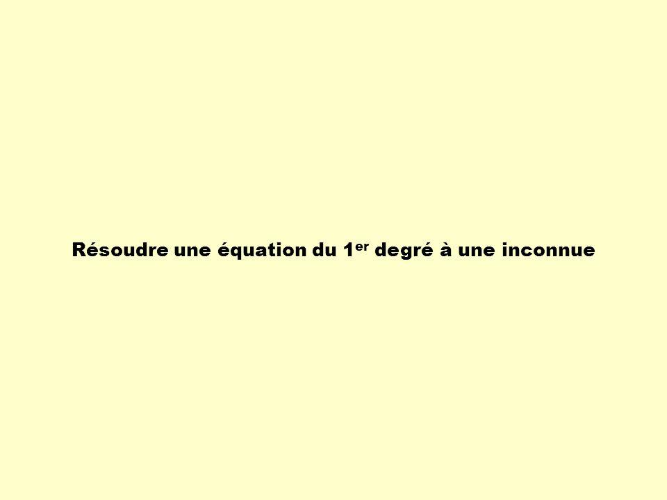 Résoudre une équation du 1er degré à une inconnue