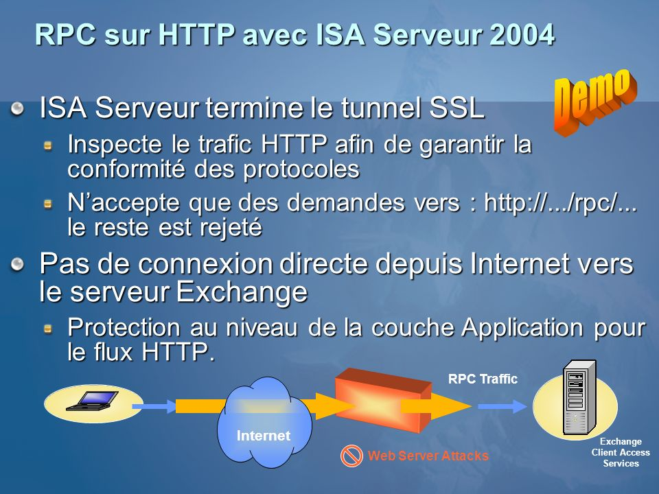 RPC sur HTTP avec ISA Serveur 2004