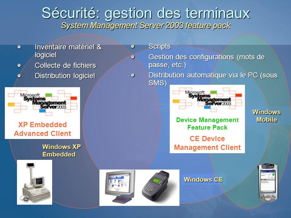 3/25/2017 1:09 AM Sécurité: gestion des terminaux System Management Server 2003 feature pack. Inventaire matériel & logiciel.