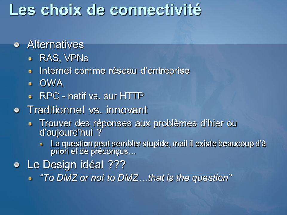 Les choix de connectivité