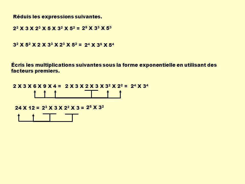 Réduis les expressions suivantes.