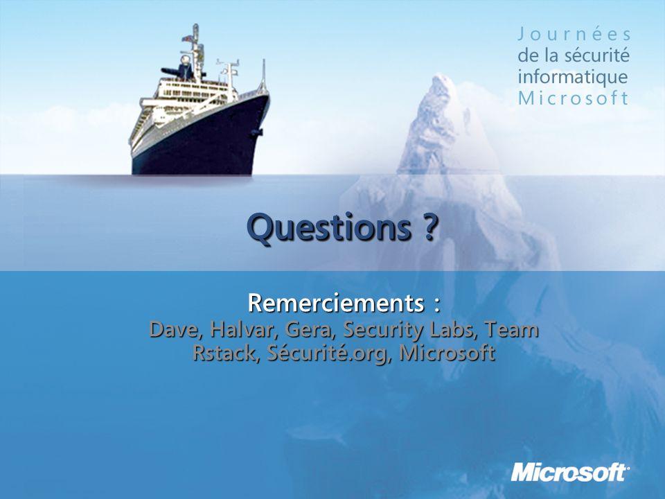 Questions Remerciements :