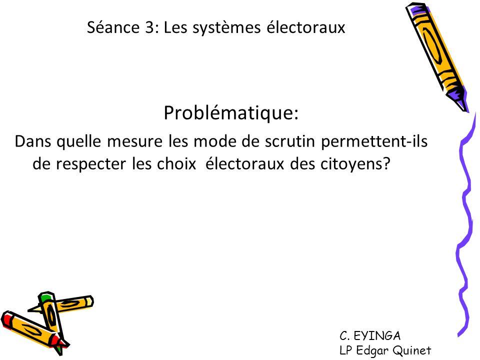 Séance 3: Les systèmes électoraux