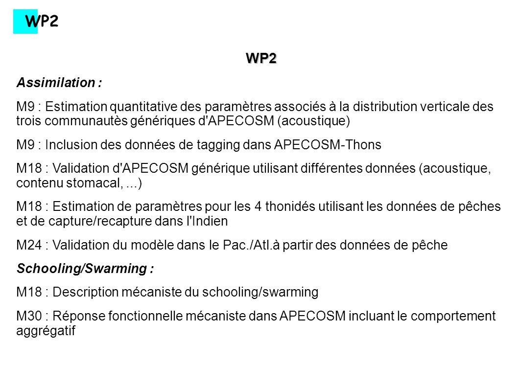 WP2 WP2. Assimilation :