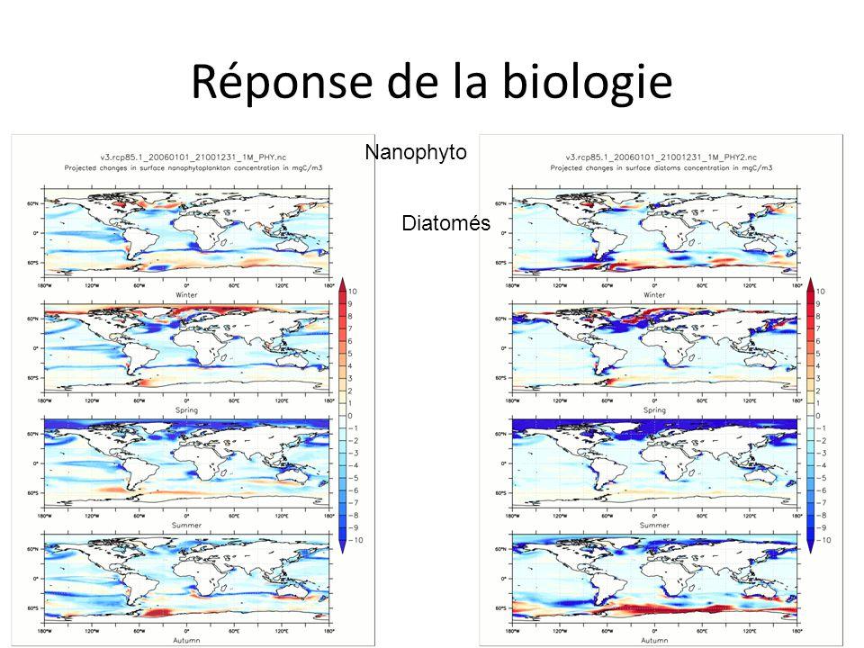 Réponse de la biologie Nanophyto Diatomés