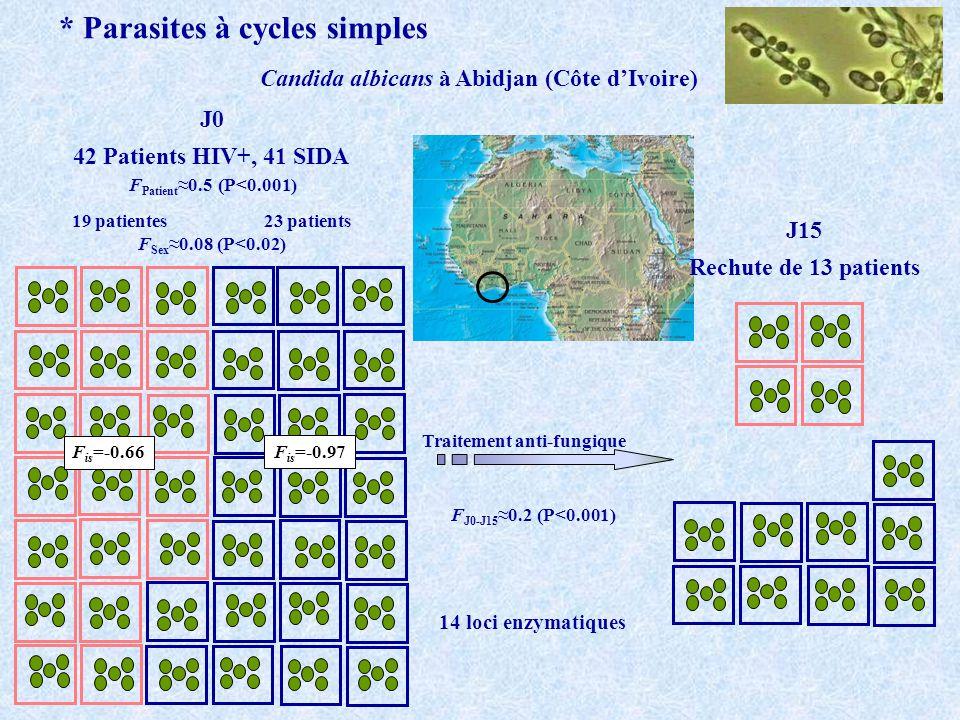 * Parasites à cycles simples