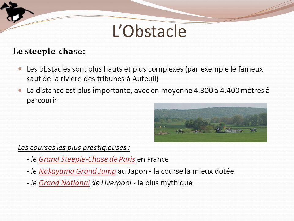 L'Obstacle Le steeple-chase: