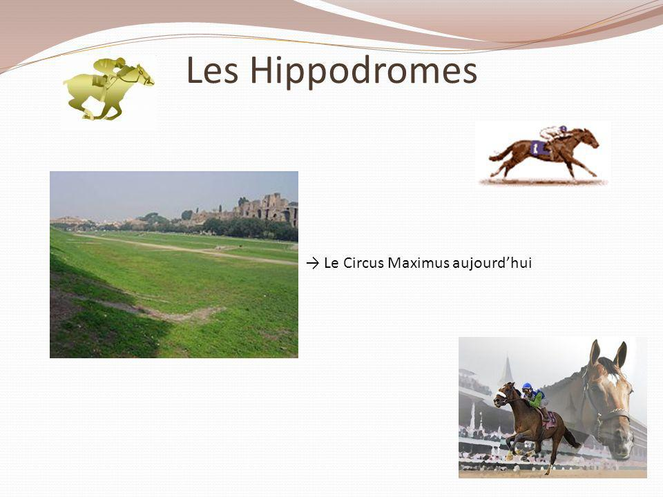 Les Hippodromes → Le Circus Maximus aujourd'hui