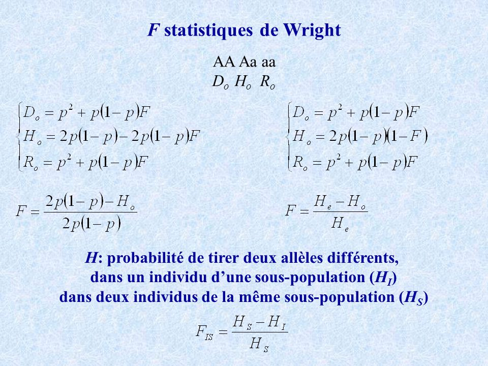 F statistiques de Wright