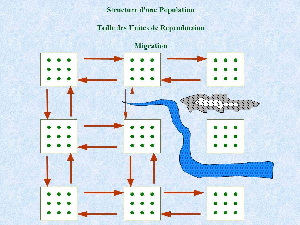 Structure d une Population Taille des Unités de Reproduction