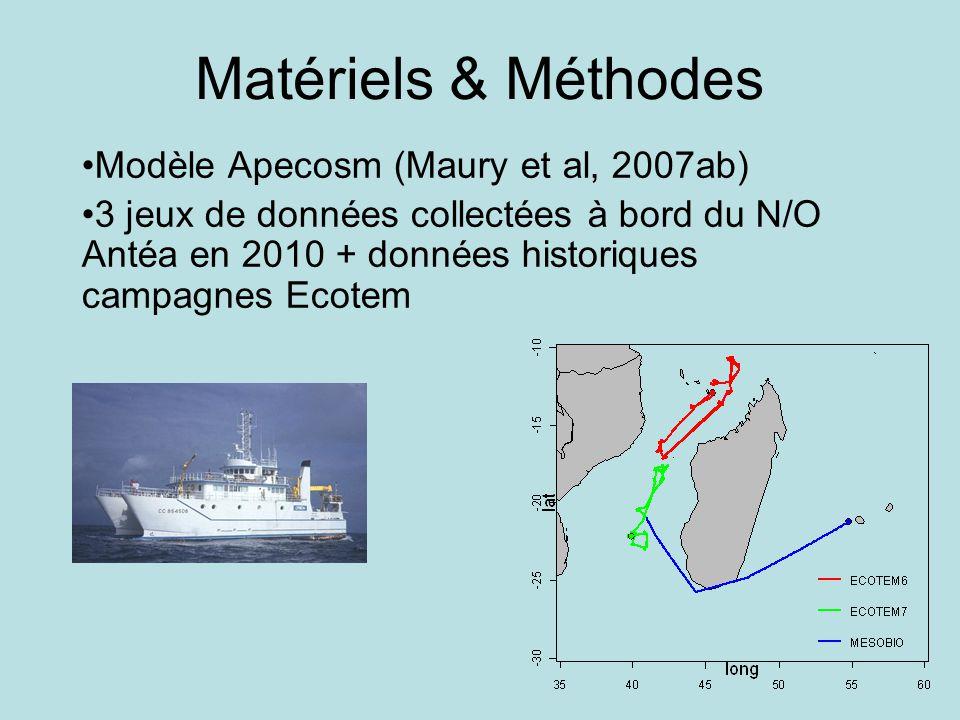 Matériels & Méthodes Modèle Apecosm (Maury et al, 2007ab)