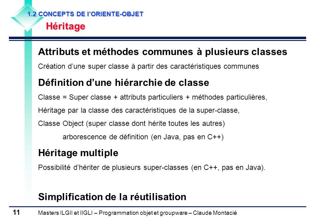 Attributs et méthodes communes à plusieurs classes