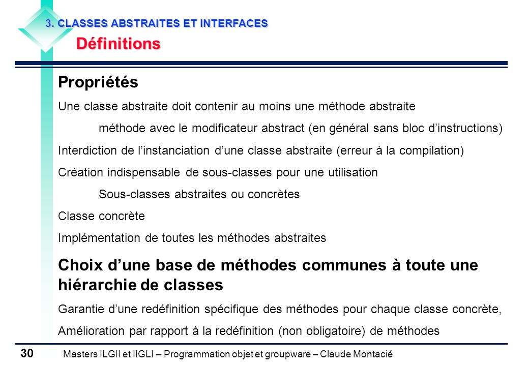 3. CLASSES ABSTRAITES ET INTERFACES