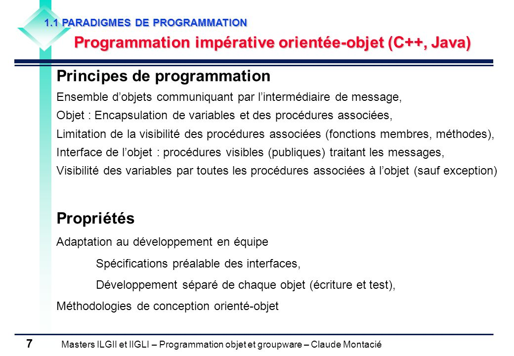 Principes de programmation