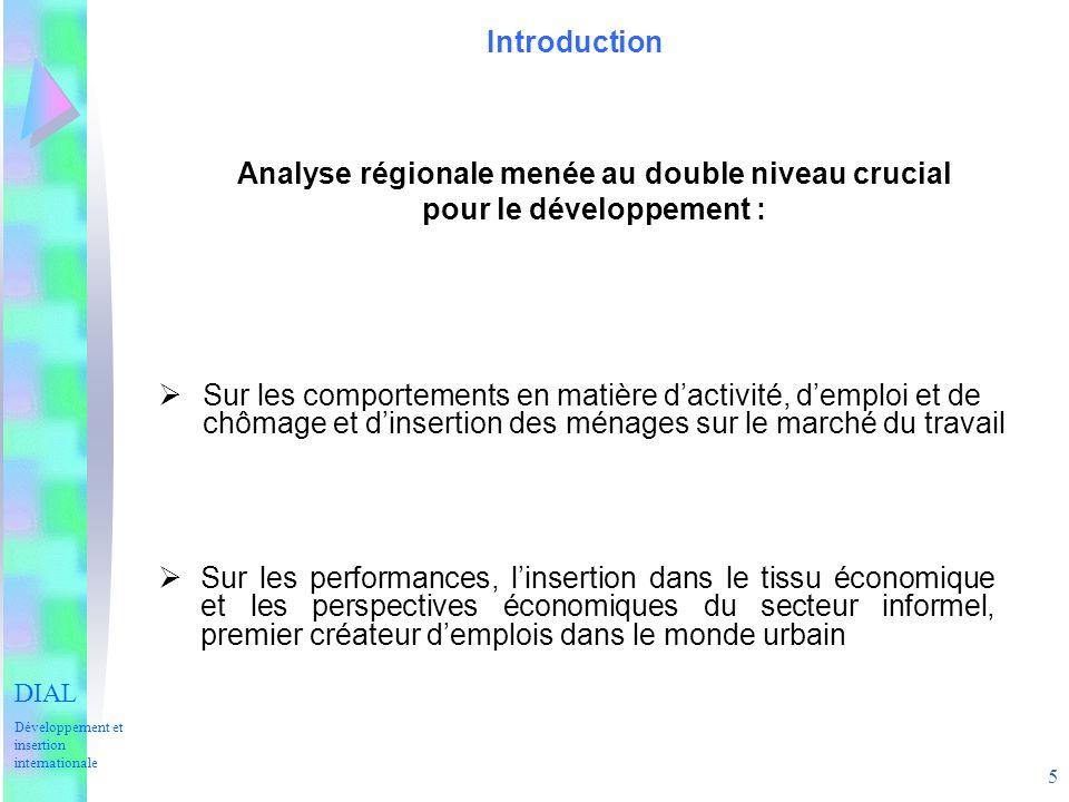 Analyse régionale menée au double niveau crucial