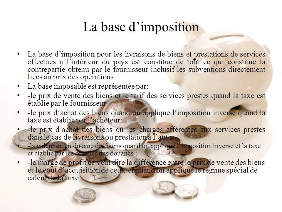La base d'imposition