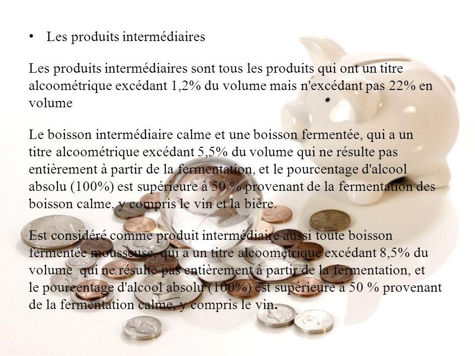 Les produits intermédiaires
