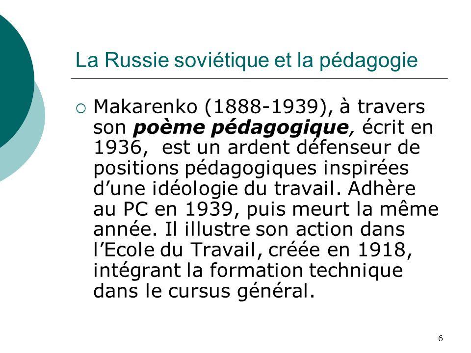 La Russie soviétique et la pédagogie