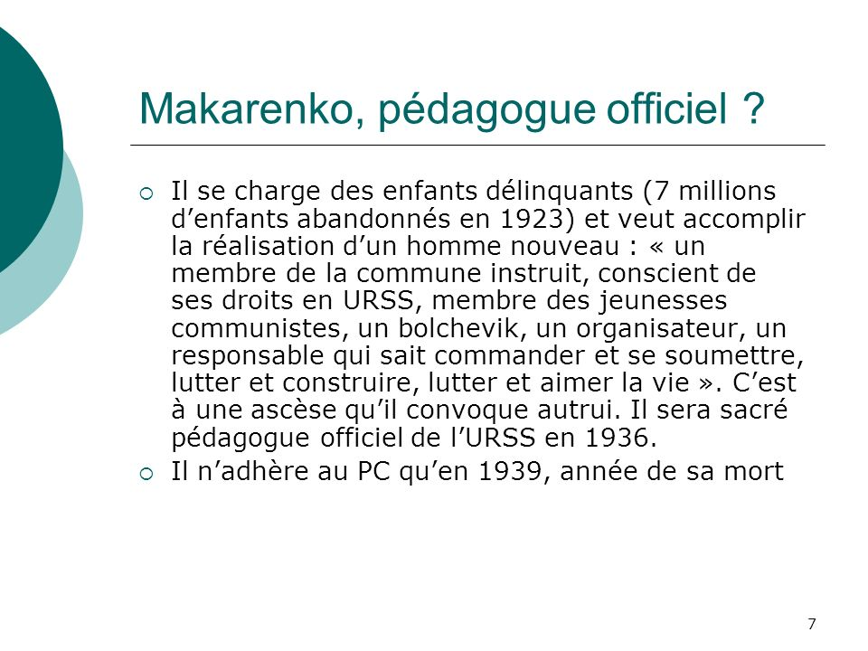 Makarenko, pédagogue officiel