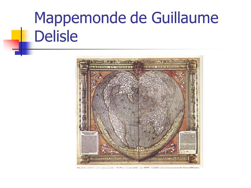 Mappemonde de Guillaume Delisle