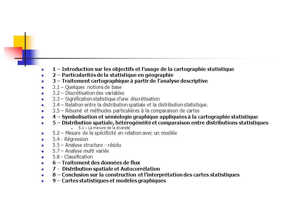 2 – Particularités de la statistique en géographie