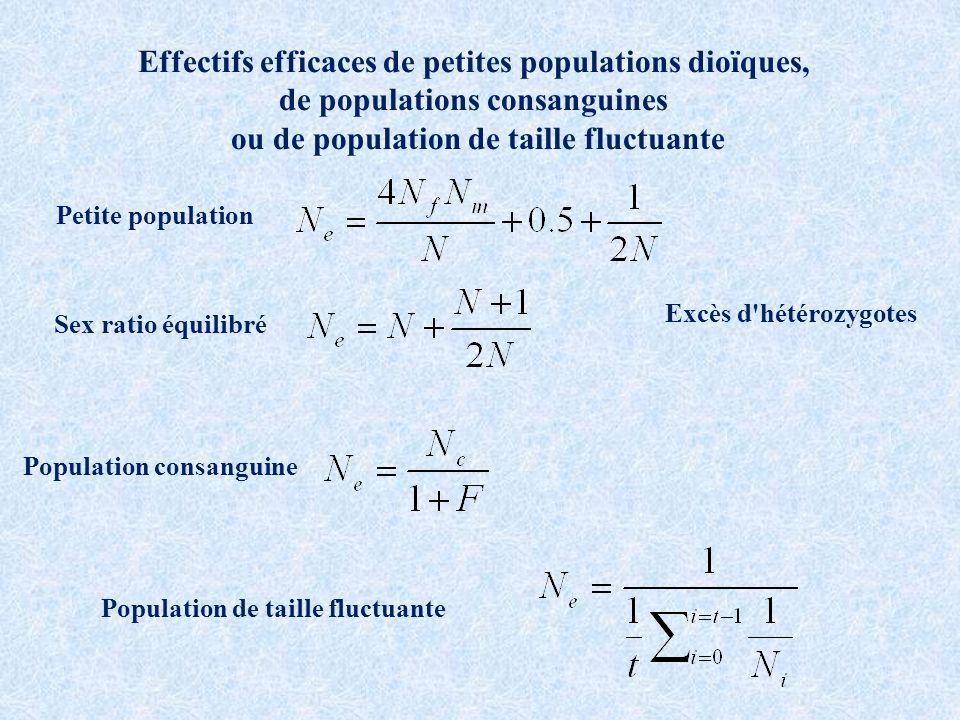 Effectifs efficaces de petites populations dioïques,