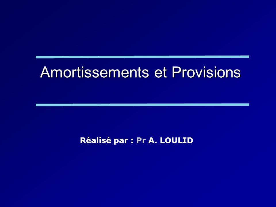 Amortissements et Provisions