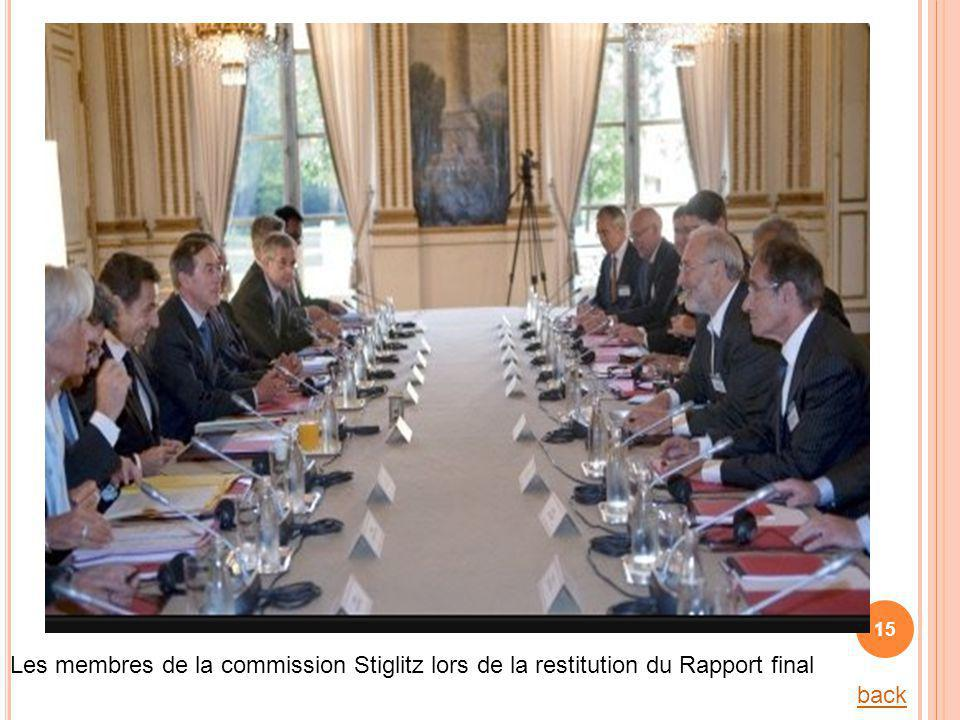 Les membres de la commission Stiglitz lors de la restitution du Rapport final