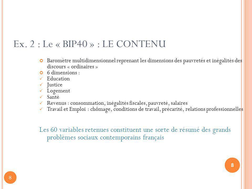 Ex. 2 : Le « BIP40 » : LE CONTENU