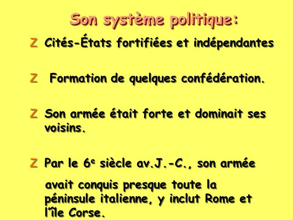 Son système politique:
