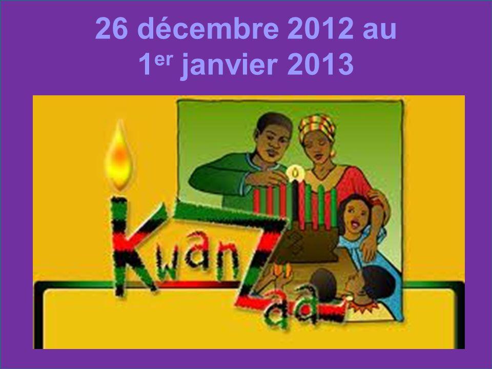 26 décembre 2012 au 1er janvier 2013