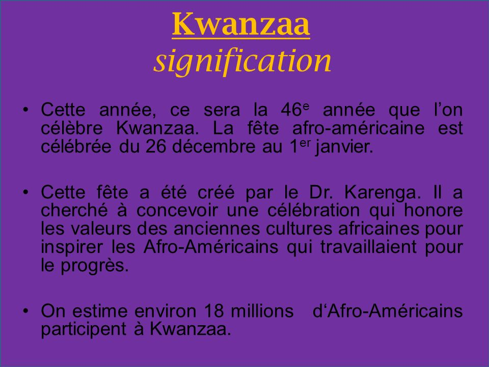 Kwanzaa signification
