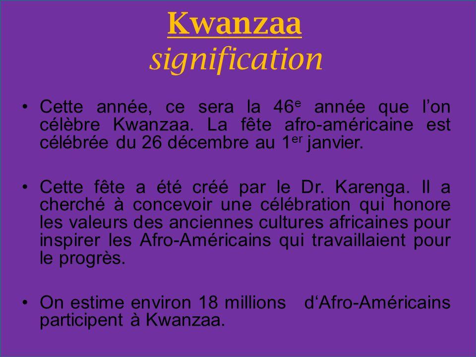 Kwanzaa signification