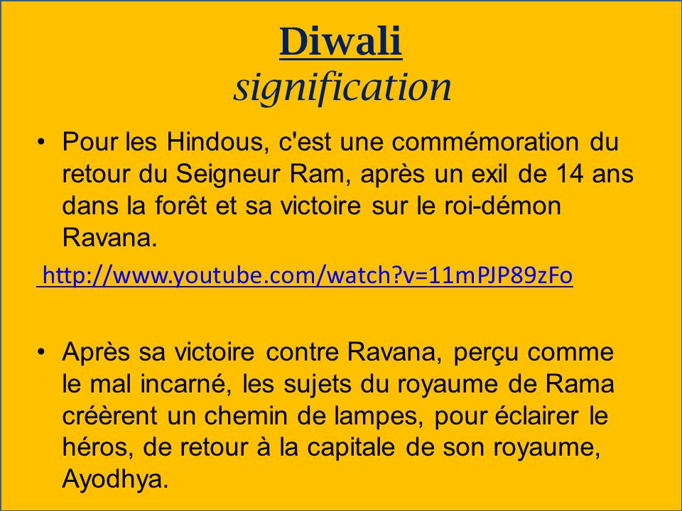 Diwali signification