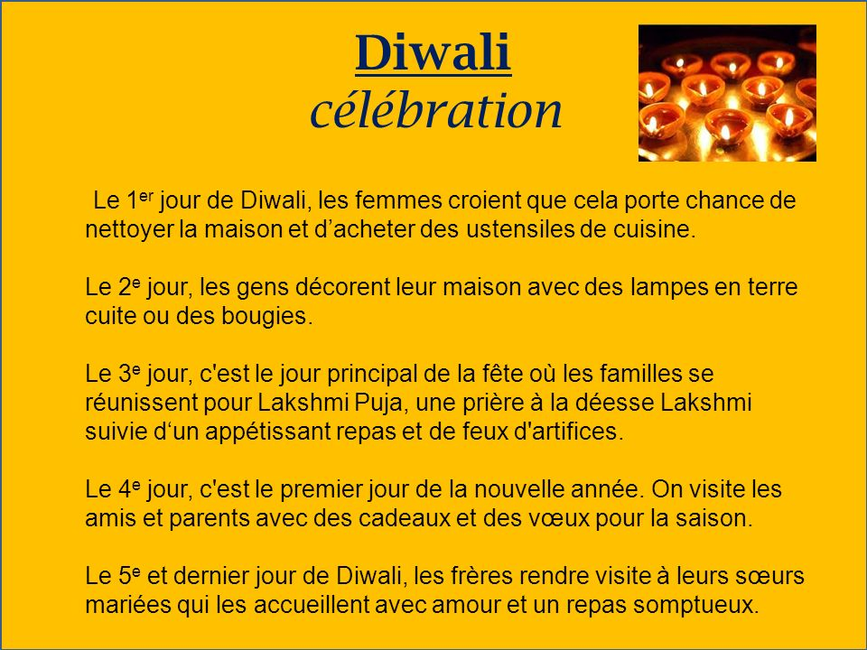 Diwali célébration