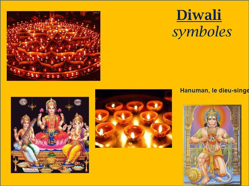 Diwali symboles Hanuman, le dieu-singe