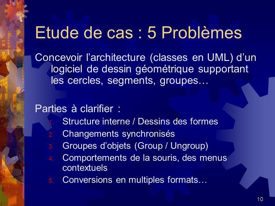Etude de cas : 5 Problèmes