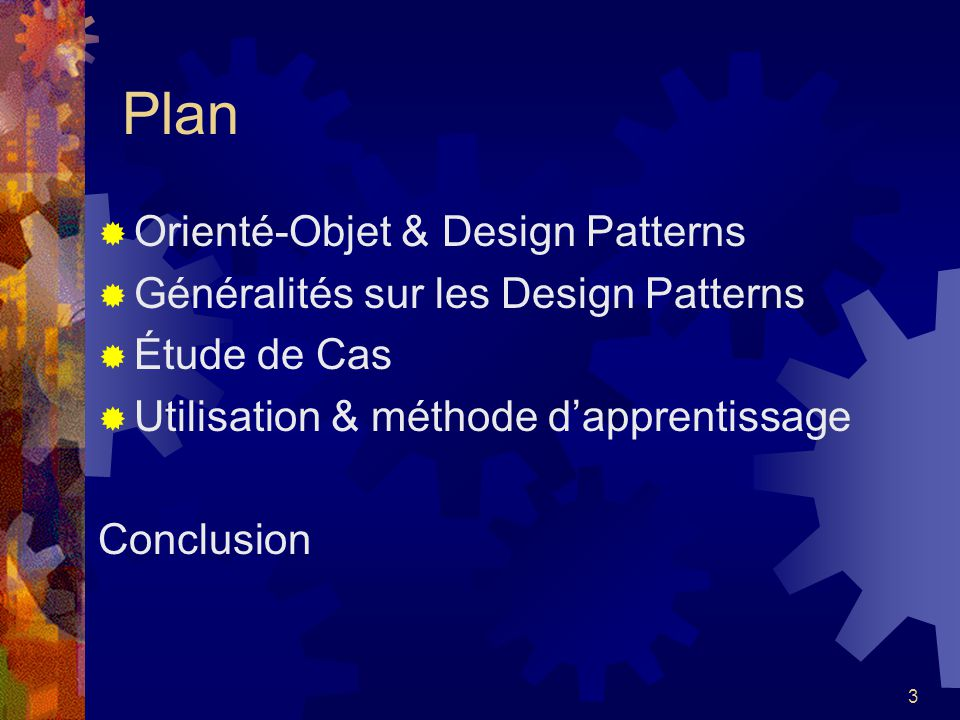 Plan Orienté-Objet & Design Patterns