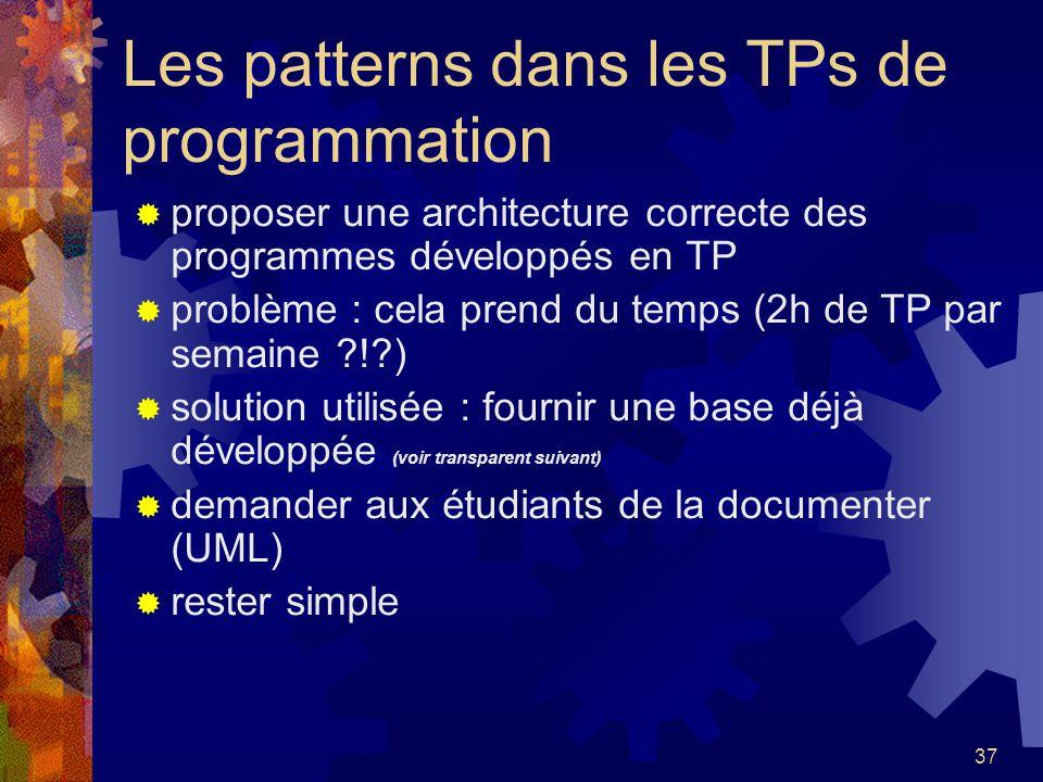 Les patterns dans les TPs de programmation