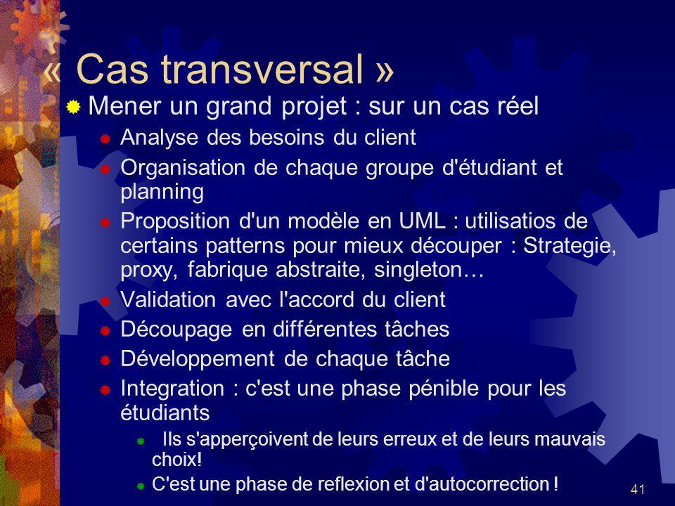 « Cas transversal » Mener un grand projet : sur un cas réel