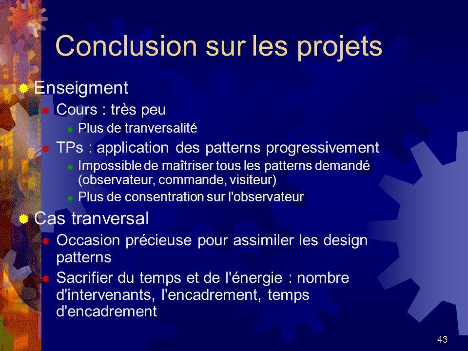 Conclusion sur les projets