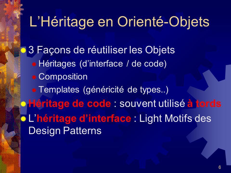 L'Héritage en Orienté-Objets