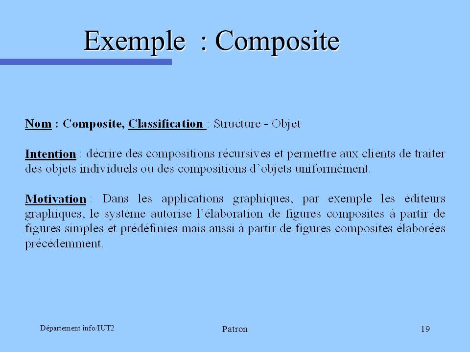 Exemple : Composite Département info/IUT2 Patron LSR-IMAG