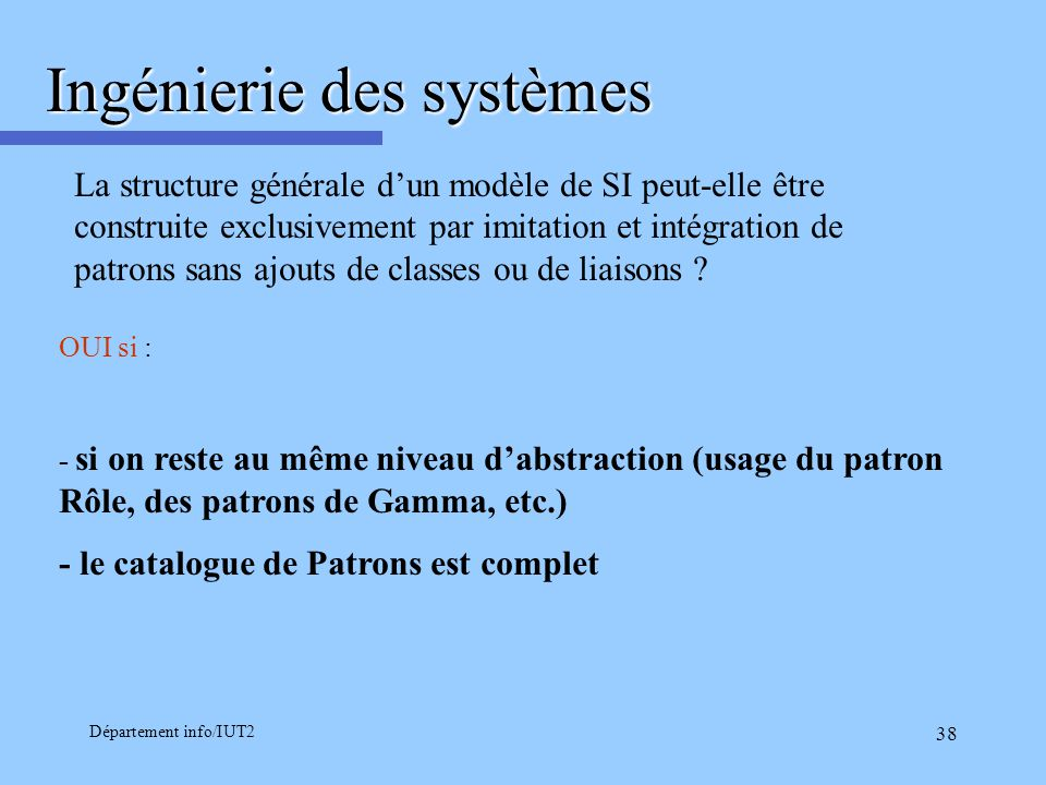 Ingénierie des systèmes
