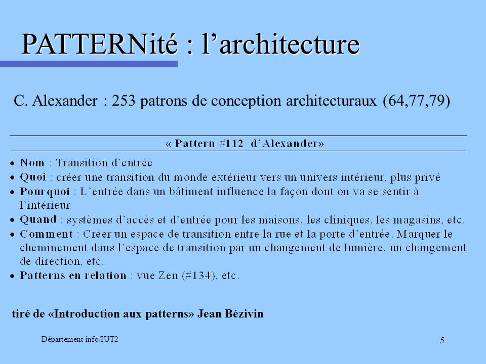 PATTERNité : l'architecture