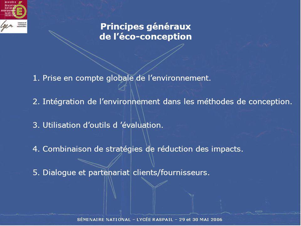 Principes généraux de l'éco-conception